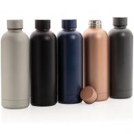Bouteille isotherme personnalisable en acier mat