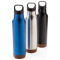 Isothermal bottle with cork finish