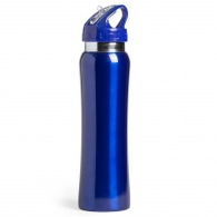 Metal bottle 80cl with straw