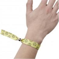 Bracelet en tissu logoté recyclé avec bague amovible