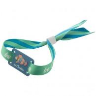 Bracelet personnalisé festival quadri avec plaque