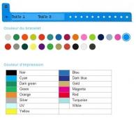 Bracelets PVC personnalisable