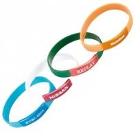 Bracelet silicone personnalisable plaque alu