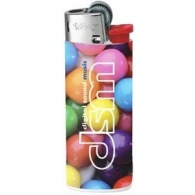 Briquet personnalisable bic mini child-resistant silver