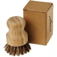 Brosse à vaisselle logotée bambou