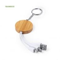 Câble de charge porte-clés bambou