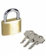 Cadenas personnalisables à clefs mm 32 x 13 x 53 mm