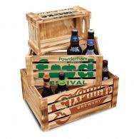 Caisse en bois personnalisée clair s