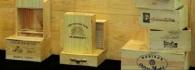 Caisses à vin en bois