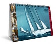 Calendrier personnalisable chevalet illustré - voiliers