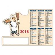 Calendrier publicitaire decoupe 12 mois pro boulanger