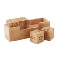 Calendrier personnalisable en bambou