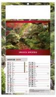 Calendrier personnalisable éphéméride mensuel - jardins