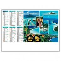 Calendrier logoté illustré souple - seychelles