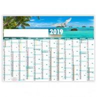 Planning rigide 70x50cm - seychelles