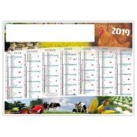 Calendrier personnalisable illustré souple - agriculture et nature