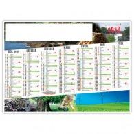 Calendrier publicitaire illustré souple - ecologie et environnement