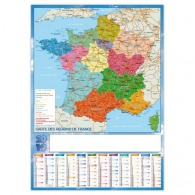 Planning rigide 70x50cm - régions de france