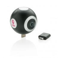 Caméra publicitaire 360 à double lentilles