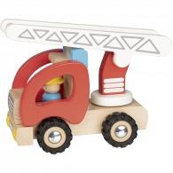 Camion de pompiers en bois 19cm