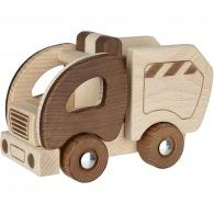 Camion poubelle en bois 19cm