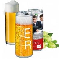 Canette logotée de bière 25cl