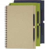 Cuaderno de espiral a5 reciclado con lápiz
