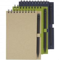 Cuaderno de espiral A6 reciclado con lápiz