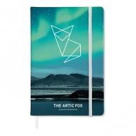 Carnet personnalisable A5, 9- pages, toucher doux à couverture rigide