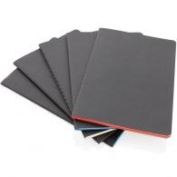Cuaderno a5 con tapa blanda y borde de color