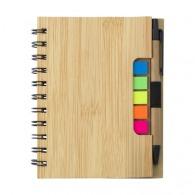 Carnet A5 en bambou avec stylo et notes