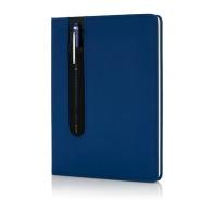 Carnet de notes A5 avec stylo tactile à couverture rigide