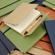 Carnet personnalisable de notes écologique avec stylo