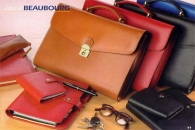 Cartables et attache-cases en cuir avec logo