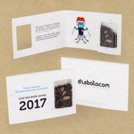 Carte capsule pour graines d'arbre