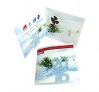 Carte de voeux publicitaire trèfle à 4 feuilles