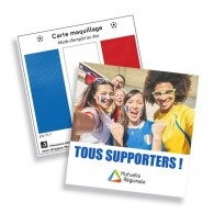 Carte maquillage personnalisable tricolore