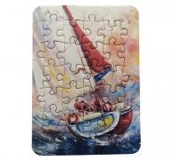 Carte mini-puzzle personnalisé