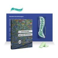 Carte pub avec paquet de chewing gum