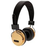Casque audio personnalisé sans fil en bambou