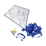 Cerf-volant logoté en polyester à colorier livré avec 4 feutres