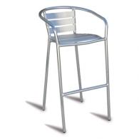 chaise haute bistrot alu