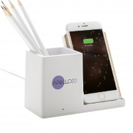 Induction charger with pencil holder