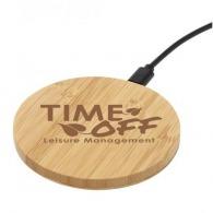 Chargeur sans fil 5w en bambou