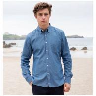 Chemises en jean avec logo