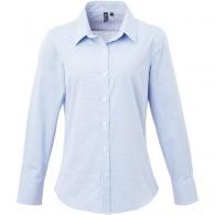 Chemise femme logotée micro carreaux Vichy - Premier
