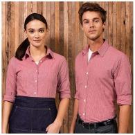 Micro gingham check shirt