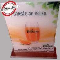 Chevalet personnalisable de table plexi