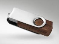 Clé usb avec bouchon rotatif et clé Twister customisée