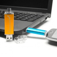 otg usb wrench double tip (classic usb and micro usb) - pigache